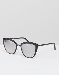 Солнцезащитные очки кошачий глаз Quay Australia Supergirl - Черный