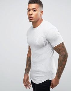 Облегающая футболка с логотипом Gym King - Серый