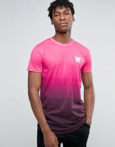 Футболка с маленьким логотипом и градиентным оттенком Good For Nothing - Розовый