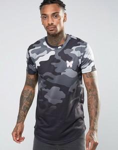 Камуфляжная футболка с эффектом деграде Good For Nothing - Серый