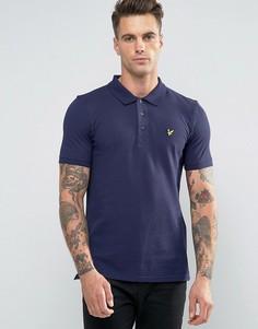 Темно-синяя футболка-поло с логотипом Lyle & Scott - Темно-синий