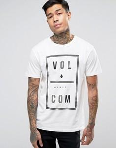 Белая футболка Volcom Saturday - Белый