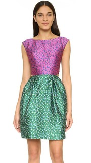 Платье без рукавов с открытой спиной Monique Lhuillier
