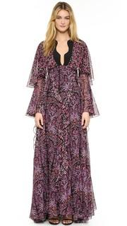 Вечернее платье с оборками Giambattista Valli