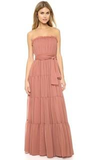 Вечернее платье без бретелек из жатого шифона Jill Jill Stuart