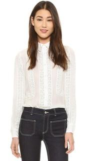 Блуза со вставками вязки крючком Haute Hippie