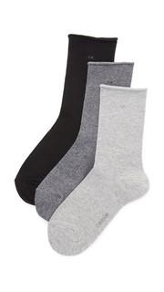 Три пары носков с закатанным верхом Calvin Klein Underwear