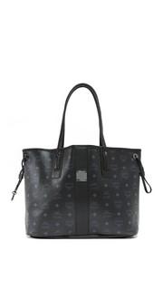 Объемная сумка-шоппер с короткими ручками MCM