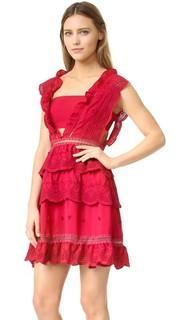 Платье с трехуровневой юбкой Self Portrait
