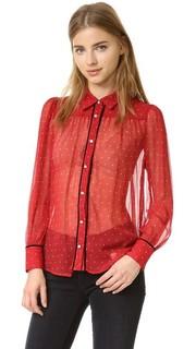 Рубашка Le Peasant в горошек Frame