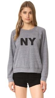 Меланжевая винтажная толстовка с надписью «NY» Monrow