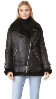 Куртка Velocite в байкерском стиле из короткой шерсти Acne Studios
