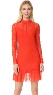 Кружевное платье с длинными рукавами McQ - Alexander Mc Queen