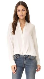 Блуза с длинными рукавами и V-образным вырезом Vince