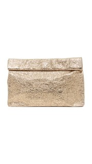 Блестящий клатч в стиле бумажного пакета Marie Turnor Accessories