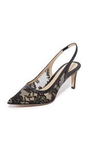 Кружевные туфли на невысоком тонком каблуке Poppy Monique Lhuillier