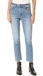 Укороченные джинсы с высокой посадкой Helmut Lang