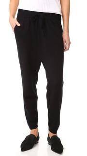 Спортивные брюки из шерсти и кашемира с заниженным шаговым швом T by Alexander Wang