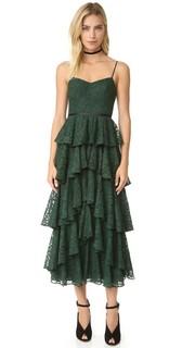 Кружевное платье с оборками Cynthia Rowley