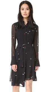 Платье-рубашка с длинными рукавами Grey Jason Wu