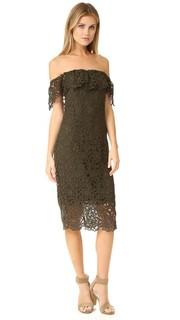 Кружевное платье Thalia с открытыми плечами Stylestalker