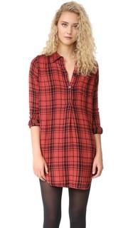 Платье-рубашка в клетку с передней застежкой Sundry
