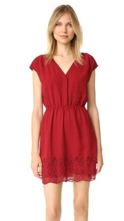 Платье с вышивкой и короткими рукавами Madewell