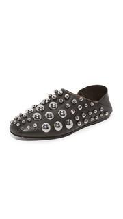 Туфли без задника с заклепками Edie Alexander Wang