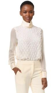 Блуза с длинными рукавами и вышивкой Prabal Gurung