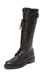 Высокие армейские ботинки Julie на шнуровке Frye
