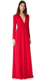 Вечернее платье с V-образным вырезом Halston Heritage