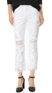 Джинсы Grind White Scratch Denim x Alexander Wang