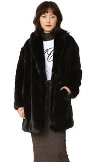 Пальто из искусственного меха McQ - Alexander Mc Queen