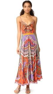 Длинное платье с завязками спереди Camilla