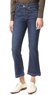 Укороченные расклешенные джинсы Gia со средней посадкой Derek Lam 10 Crosby