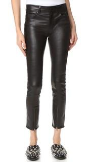 Кожаные брюки на молнии Helmut Lang