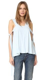 Блуза с завязками сбоку Helmut Lang