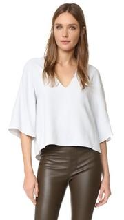 Блуза с глубоким V-образным вырезом Helmut Lang