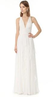 Вечернее платье Ella с глубоким V-образным вырезом J. Mendel