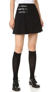 Плиссированная юбка с пряжками McQ - Alexander Mc Queen