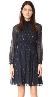 Металлизированное платье с длинными рукавами Rebecca Taylor