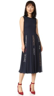Плиссированное платье с графическим принтом RED Valentino