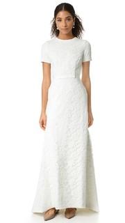 Вечернее платье White Roses Self Portrait