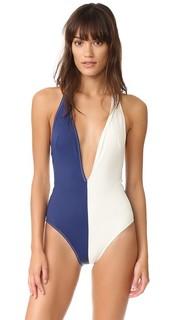 Сплошной купальник Willow с глубоким вырезом Solid & Striped
