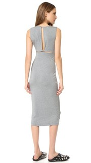 Back Slits Sleeveless Dress