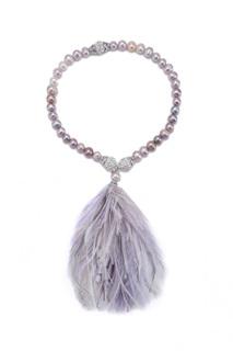 Жемчужный браслет-чокер «Фламинго» Esve