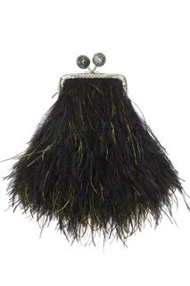 Клатч с перьями марабу и павлина BabyCleopatra Esve
