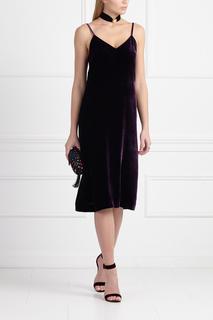 Бархатное платье-комбинация A LA Russe