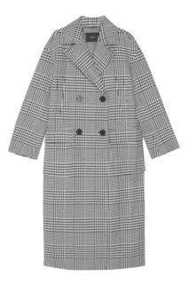 Пальто в клетку Mo&Co