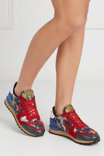 Замшевые кроссовки Rockrunner Valentino